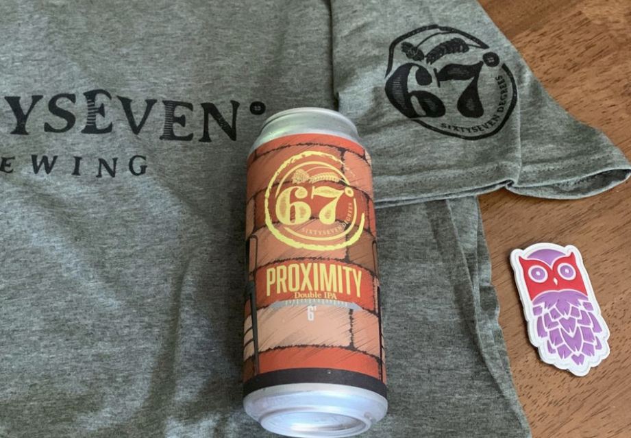 Proud to Support 67 Degrees Brewing